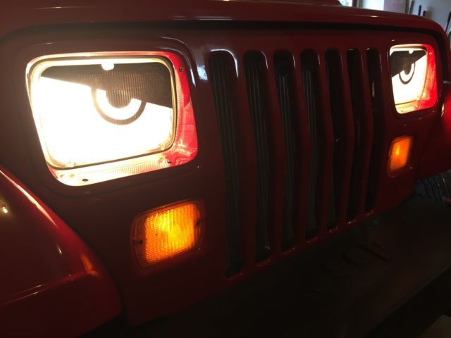 1987 1992 Jeep Wrangler Yj Angry Mad Eyes Headlight Cover Decal