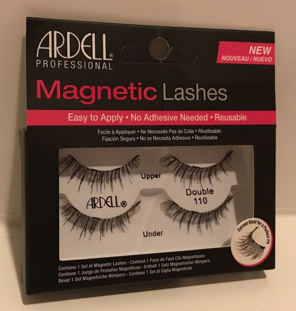 f73eabb04e1 Ardell Magnetic Strip Lash Double 110 Lashes 4 Small Secure Magnets Eye  Lashes | eBay