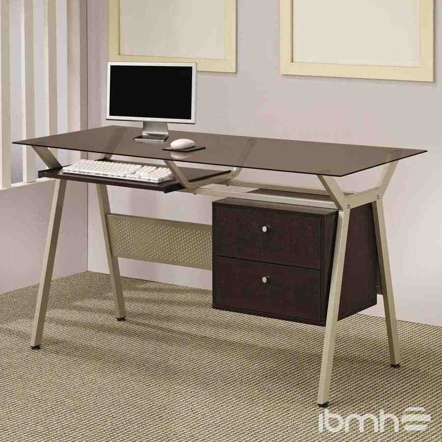 Small Computer Table On Wheels Modern Home Office Desk Home