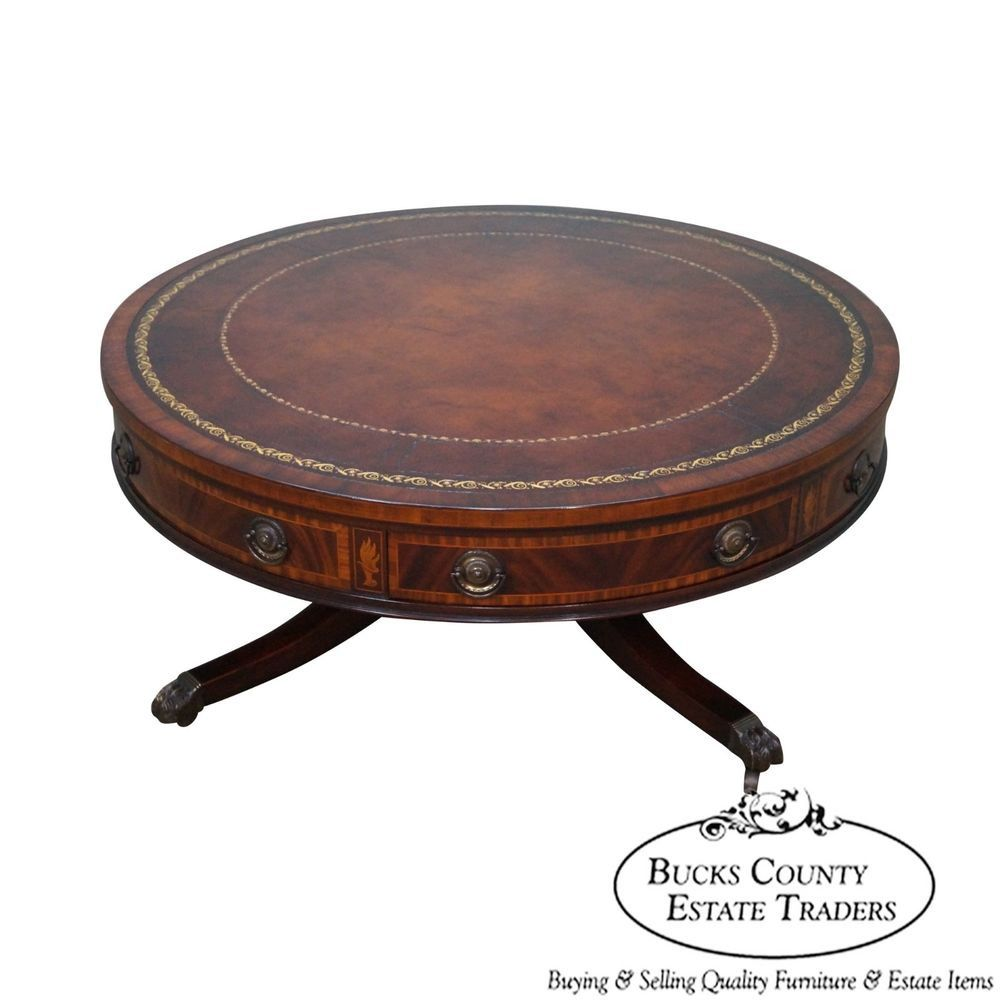 Marvelous 100+ Antique Round Leather Top Table   Best Bedroom Furniture Check More At  Http: