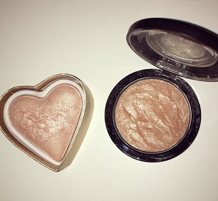 Makeup Revolution 'Goddess of Faith' (left) and MAC Soft and Gentle (right)