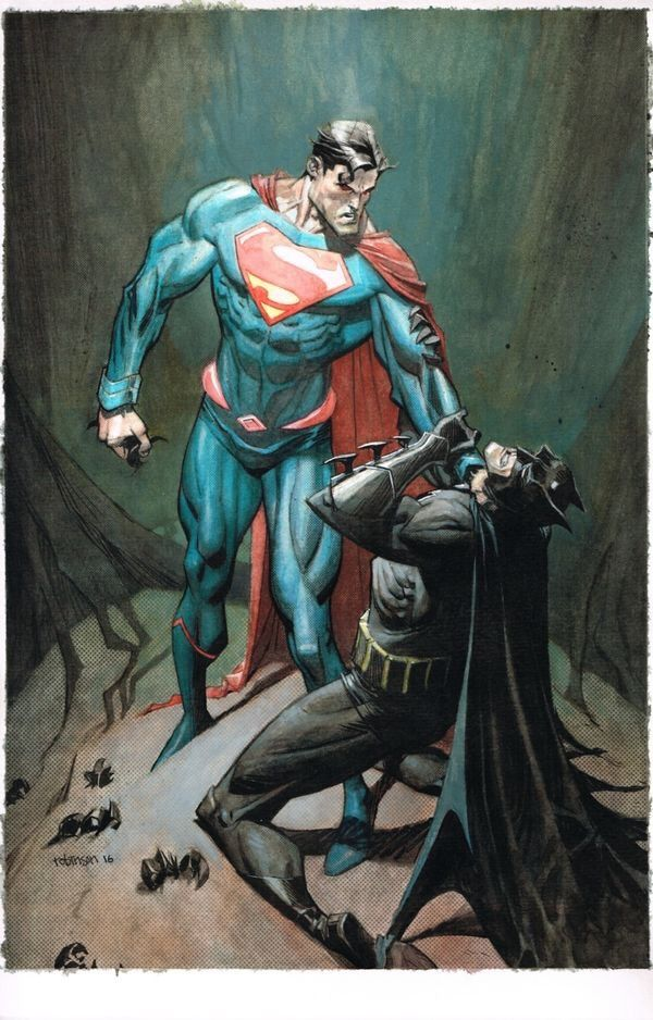 Superman Vs Batman Andrew Robinson Superman Artwork Dc Comics Art Batman And Superman