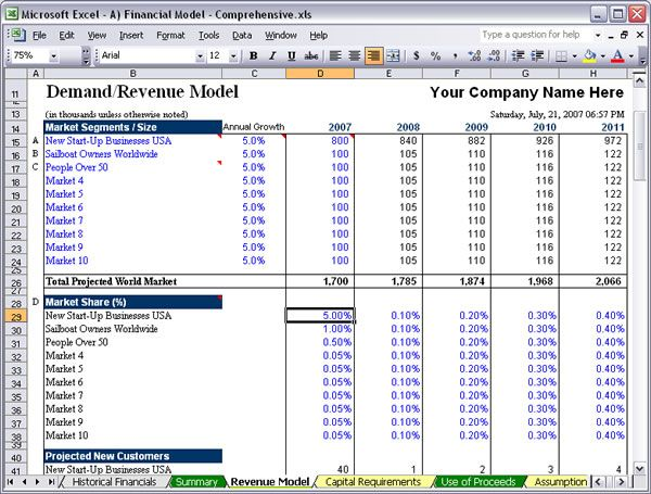 excel financial templates