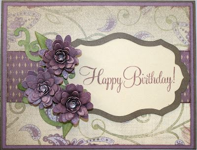 Heartfelt Creations By Connie Close To My Heart Flower Cards Birthday Cards Floral Cards