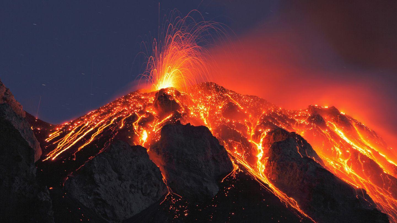 Etna Volcano Wallpaper | Nature | Pinterest | Volcano, Stromboli ...
