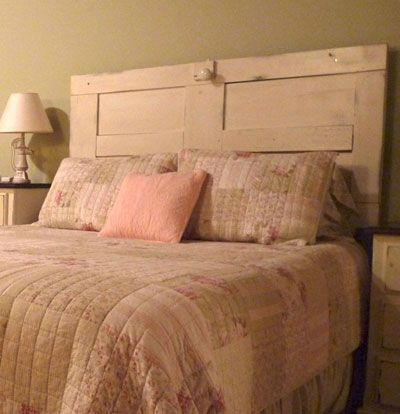 old door headboard - Google Search - DIY Headboard Door Headboards, Antique Door Headboards And