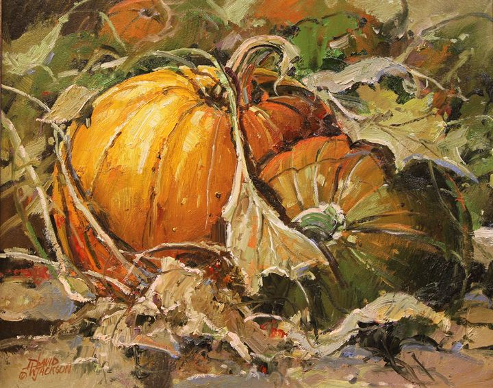 Ready for October, 16 x 20 oil - David W Jackson oil painting
