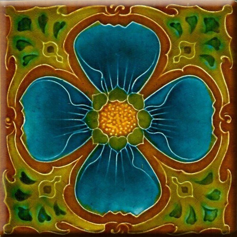 Decorative Tile Art Art Nouveau Reproduction Decorative Ceramic Tile 160  Ceramic