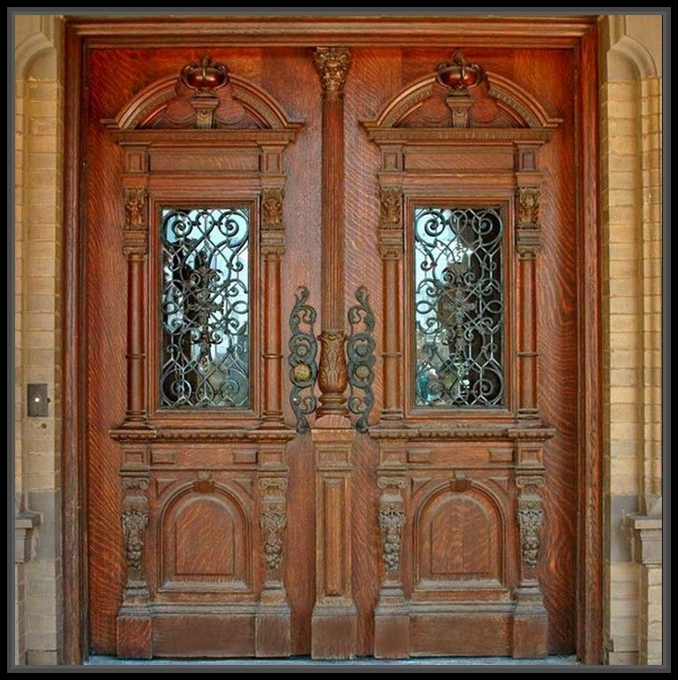 Incredible Antique Wood Double Doors Home Decor More Design  Http://maycut.com