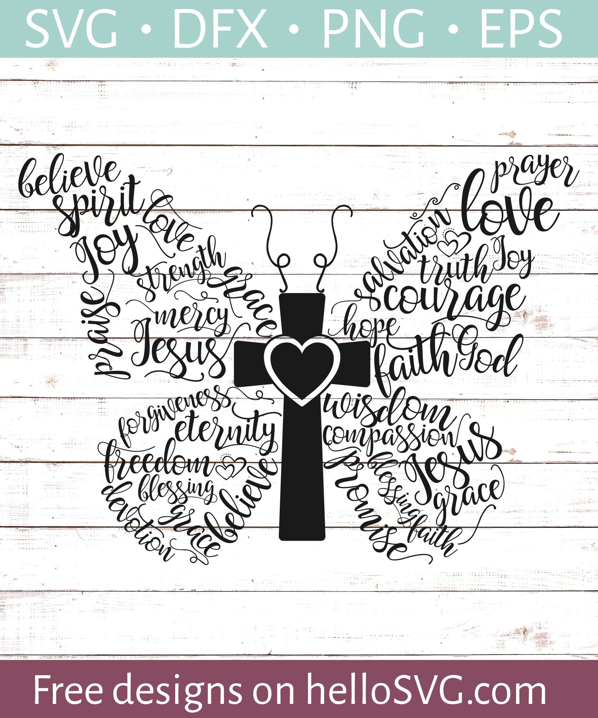 Christian Butterfly SVG Free SVG files