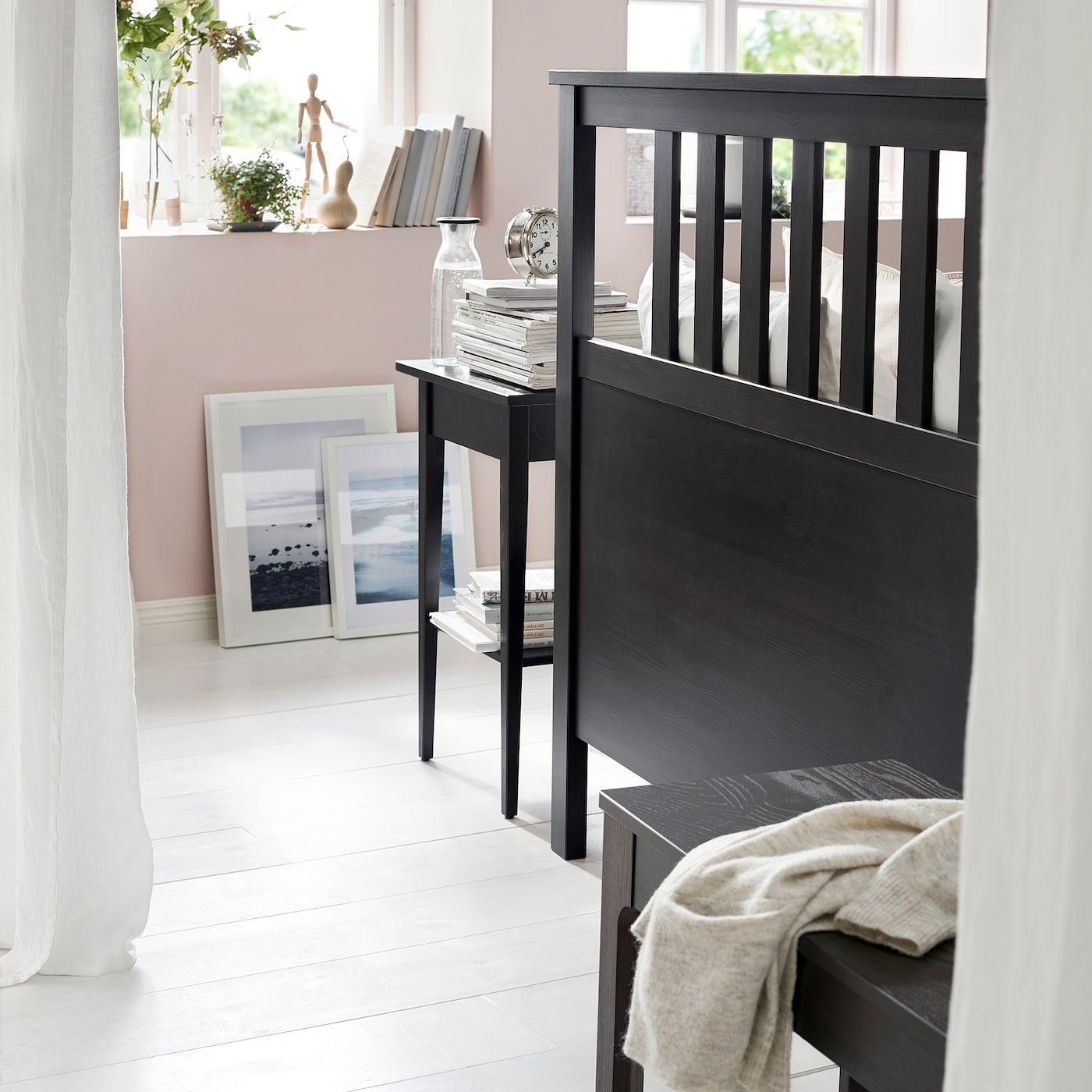 Hemnes Bettgestell Schwarzbraun Leirsund Ikea Hemnes Bett Bettgestell Und Schlafzimmer Aufbewahrung