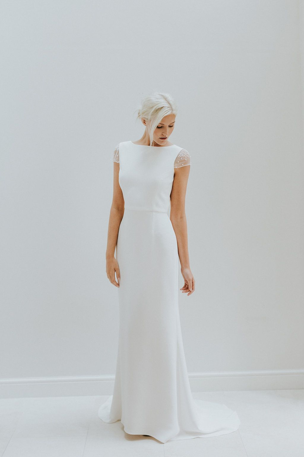 Simple modern wedding dress by charlotte simpson bride to be