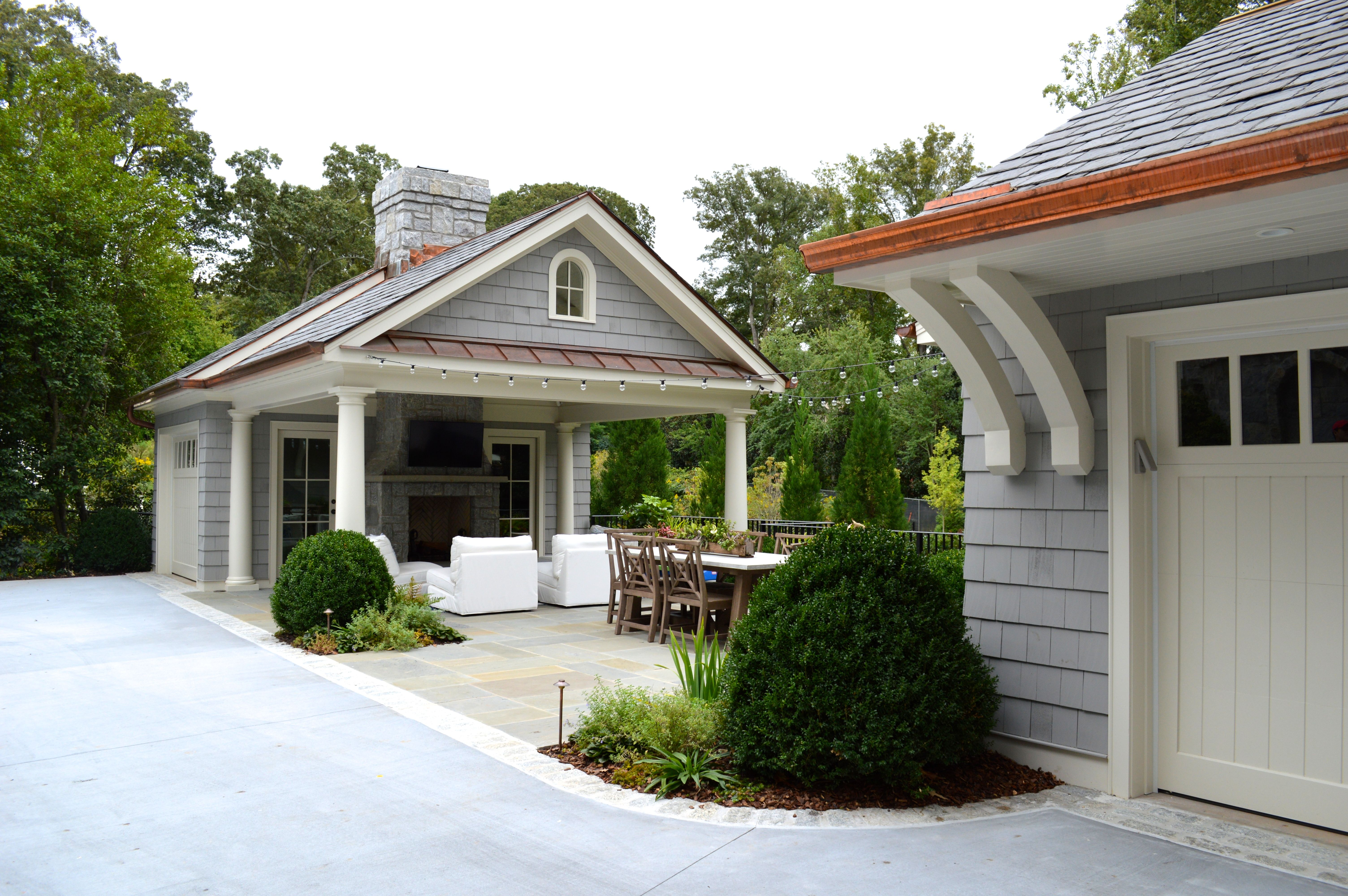 A Young Family Was Looking To Update Their Backyard For Maximum Usability And Enjoyment Removed Was A Di Pool Houses Garage Guest House Garage Plans With Loft
