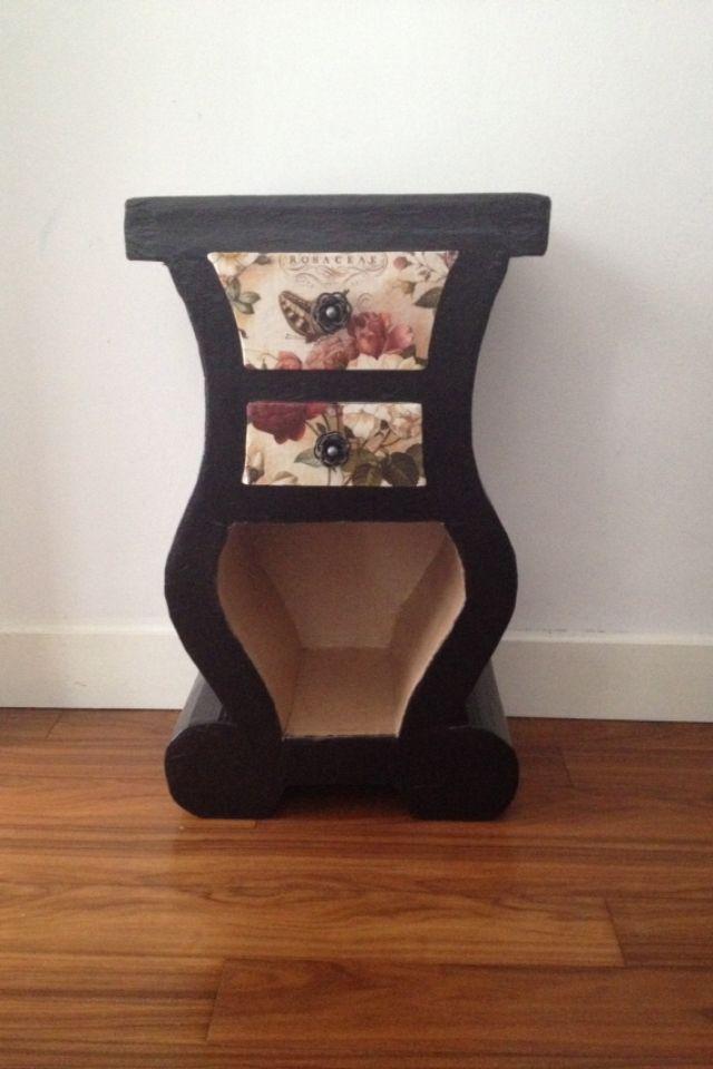 Carton Table De Chevet Finition Papier Nepalais Et Papier Peint Furniture Home Decor Decor