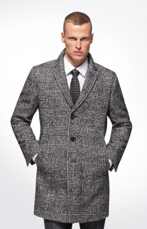 joop glencheck mantel mariso in schwarz weiss kariert outfit f rs b ro pinterest m ntel. Black Bedroom Furniture Sets. Home Design Ideas