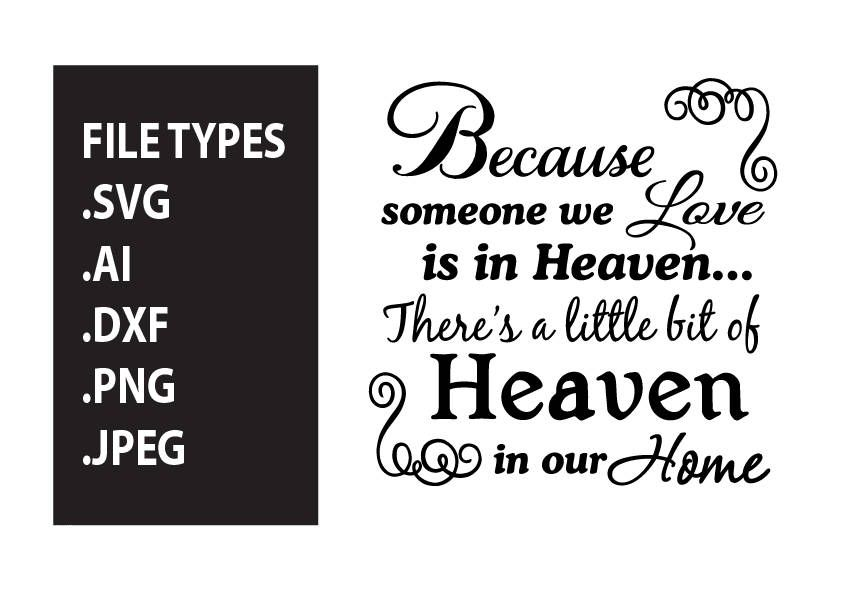 Because Someone We Love Is In Heaven Svg Glass Block Svg Memorial Svg Christmas Svg Digital File Ai Png Dxf Svg Cricut Svg Si Christmas Svg Cricut Cricut Svg