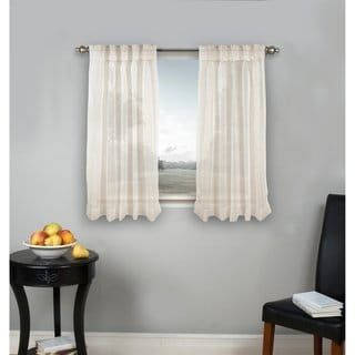 Palm Beach Pinch Pleated Top With Back Tabs Short Curtain Panel