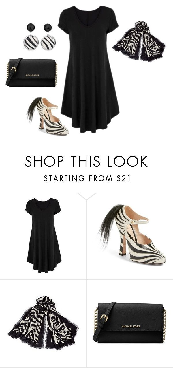 """""""Do you dare: Zebra"""" by sassyladies ❤ liked on Polyvore featuring Gucci, Marc Jacobs, Michael Kors and Chico's"""