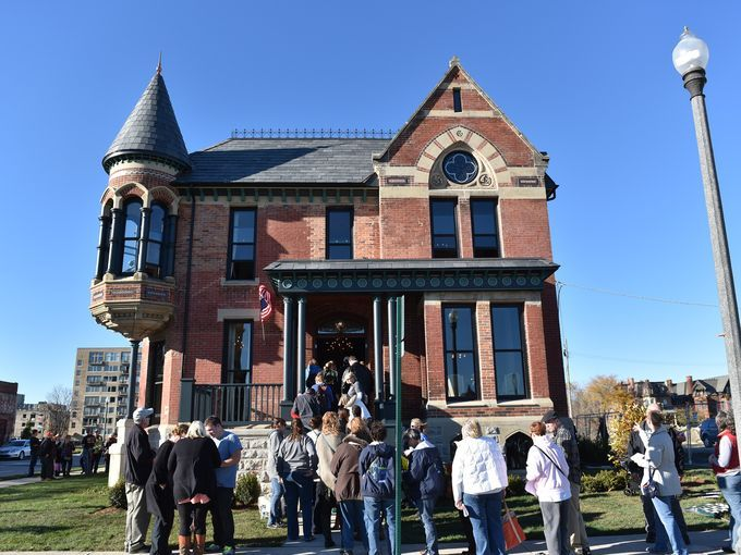 People File Into The Newly Renovated Ransom Gillis Part Of A Larger Redevelopment Brush