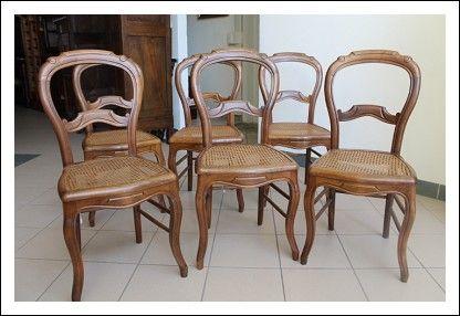 Sedie Francesi In Paglia Di Vienna : Gruppo di sei sedie in noce massello con seduta in paglia di