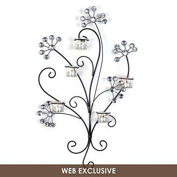 Gem Flower 5-Tealight Sconce | Kirklands