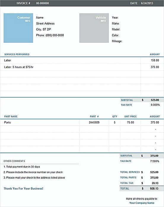excel invoice template for mac - Minimfagency