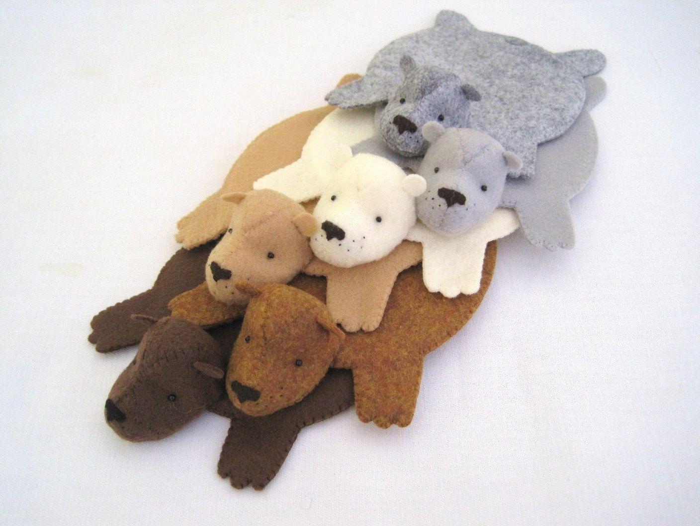 Bear Rug Coasters Cute