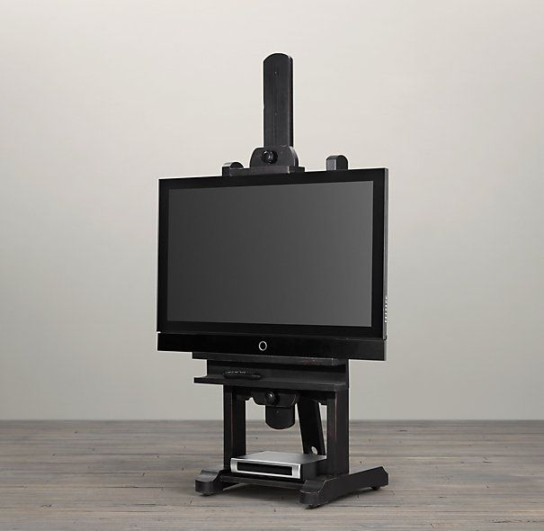 tv easel. restoration hardware 80 tv easel move our stand we have now to n