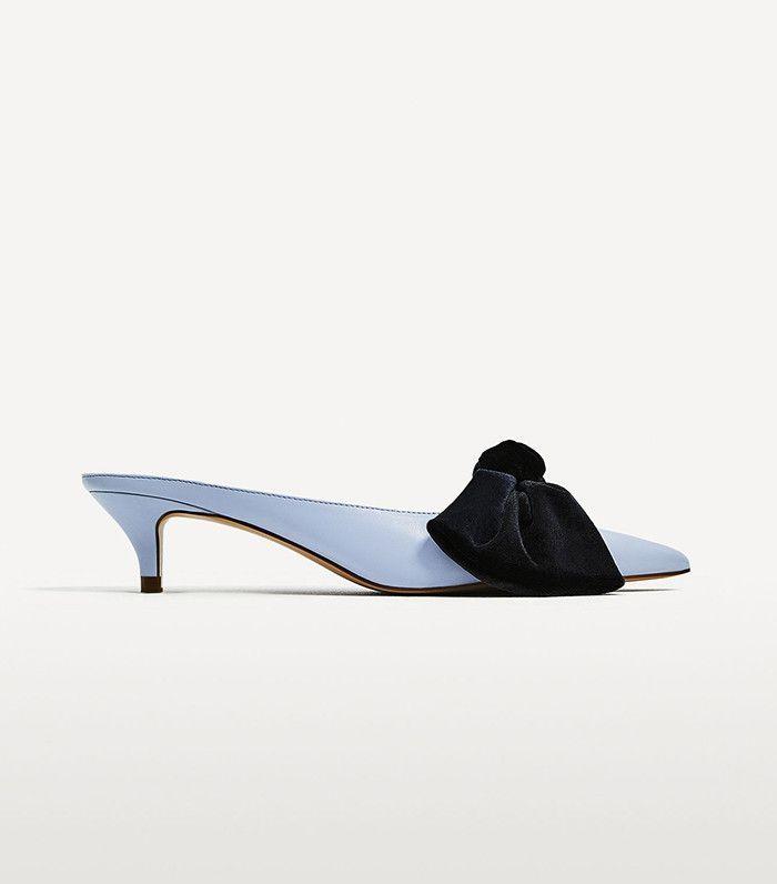 Zara Heeled Mules With Bow Heels Trending Shoes Zara Heels