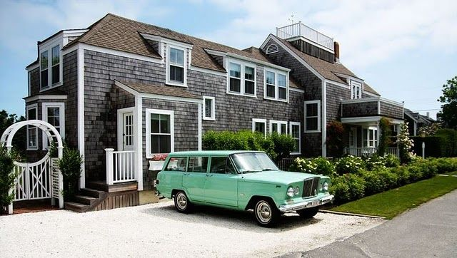 Nantucket Beach House And Vintage Jeep
