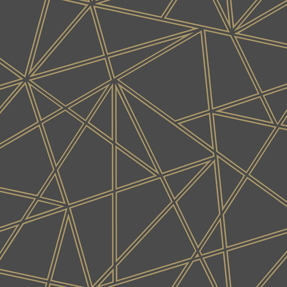 Omega By Albany Black And Gold Wallpaper 90274