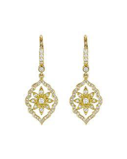 Y2PSX Penny Preville 18k Gold Diamond Maple Leaf Earrings