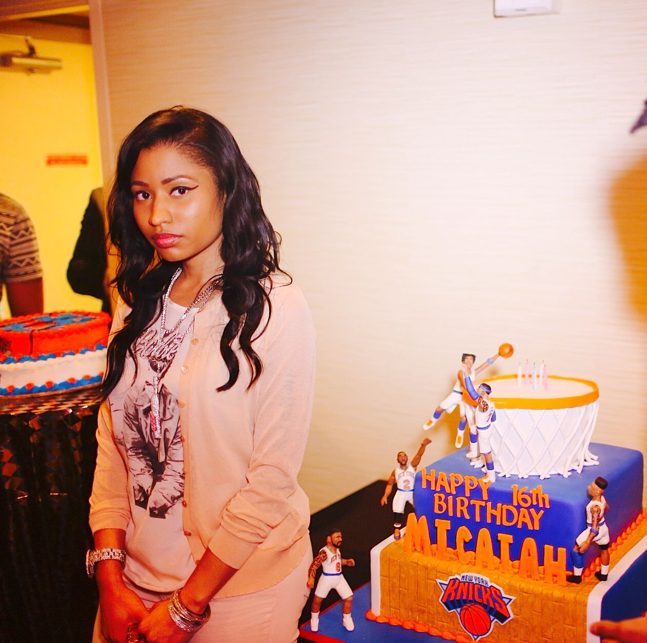 Nicki Minaj Meanmuggin With The Cake We Made For Her