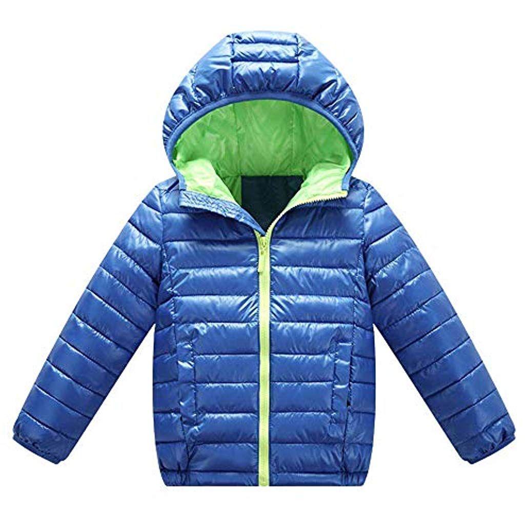Leey Giacca calda con cappuccio a manica lunga per bambini Bambini Giubbotto  Piumino Invernale Ragazzi Ragazze 9e8bc4356be