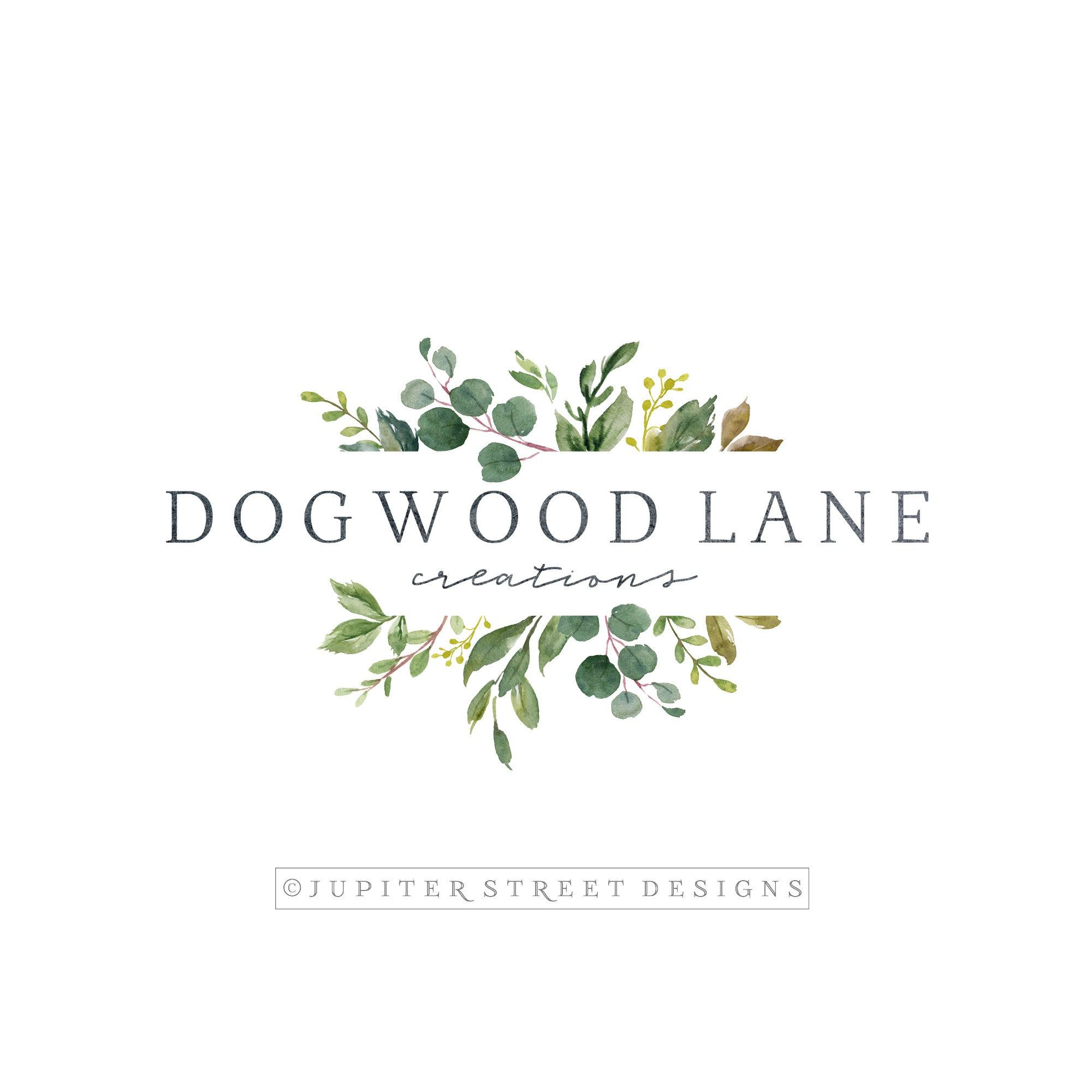 Logo Design, Premade Logo, Botanical Logo, Nature Logo, Branch Logo, Watercolor Logo, Logo Branding is part of Etsy branding - policy ref shopinfo policies © copyright Jupiter Street Designs 2015