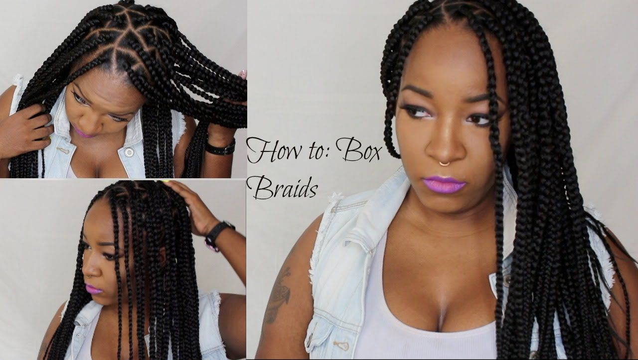 How to box braidstriangle braids protective hairstyles