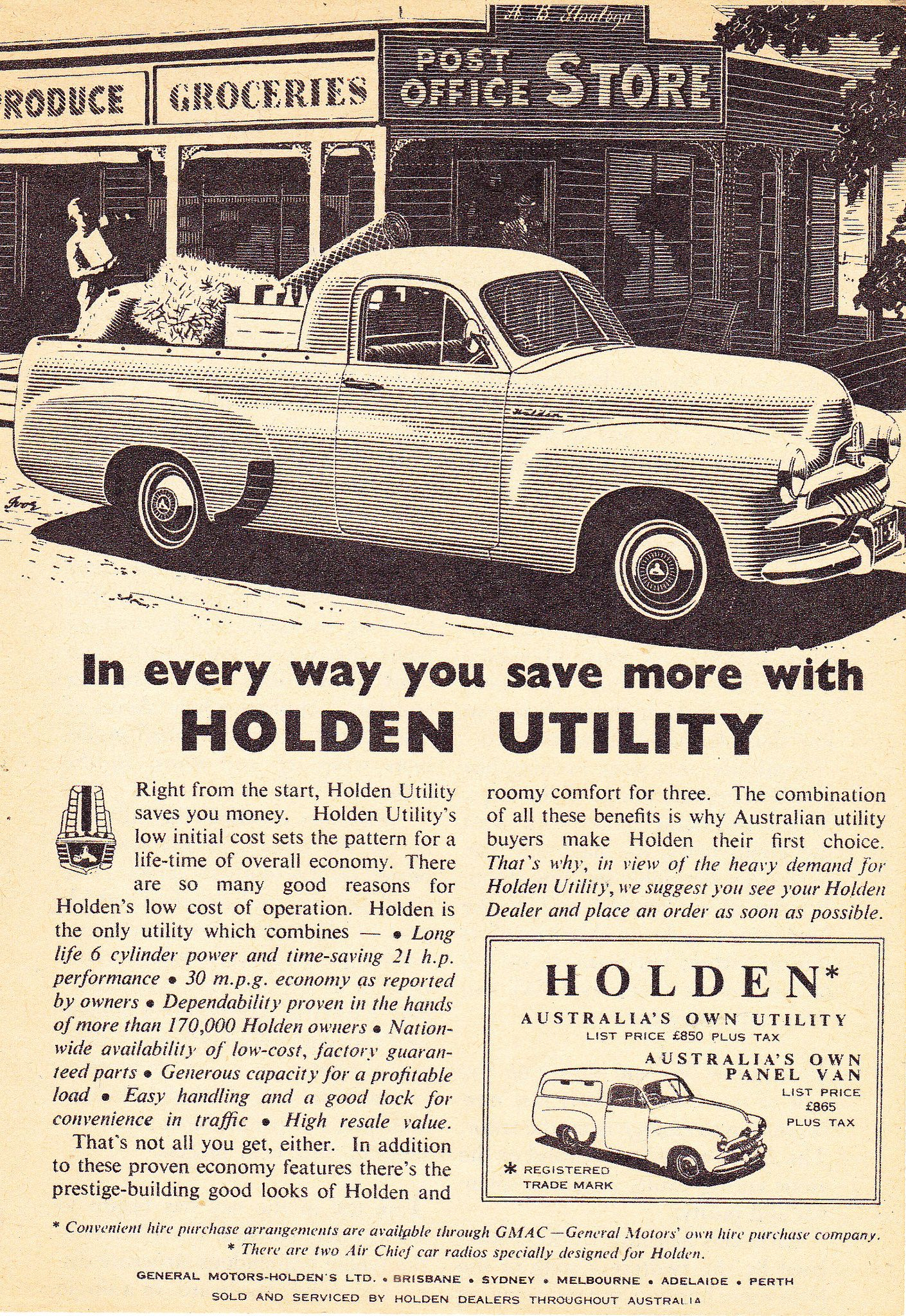 1955 FJ Holden Ute & Panel Van Aussie Original Magazine ...
