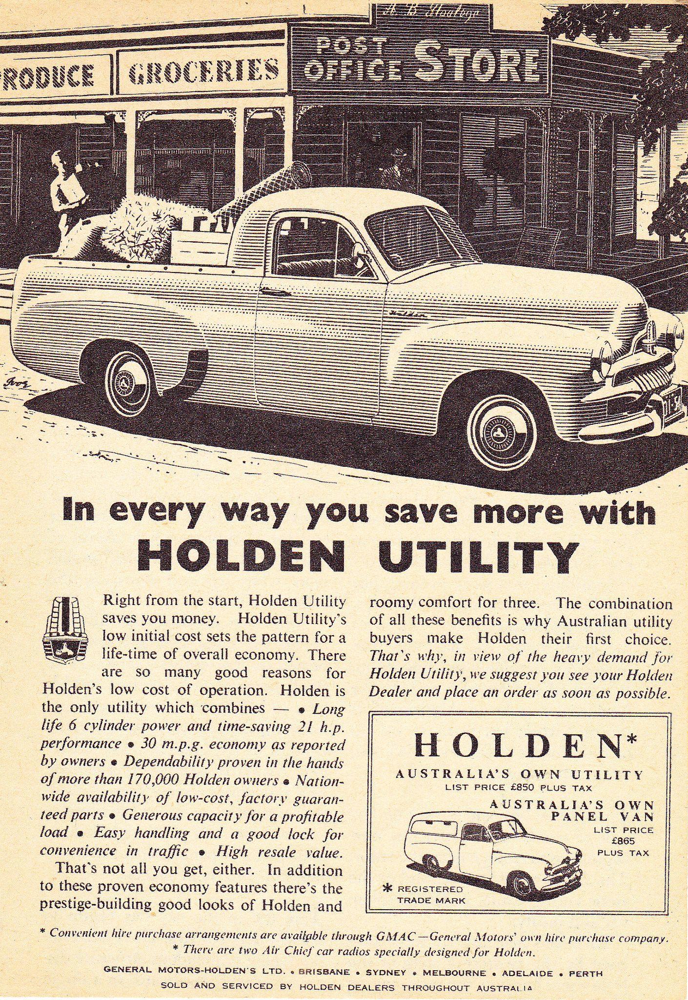 1955 FJ Holden Ute & Panel Van Aussie Original Magazine