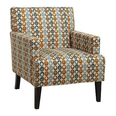 Office Star Products Avenue Six Carrington Arm Club Chair Fabric