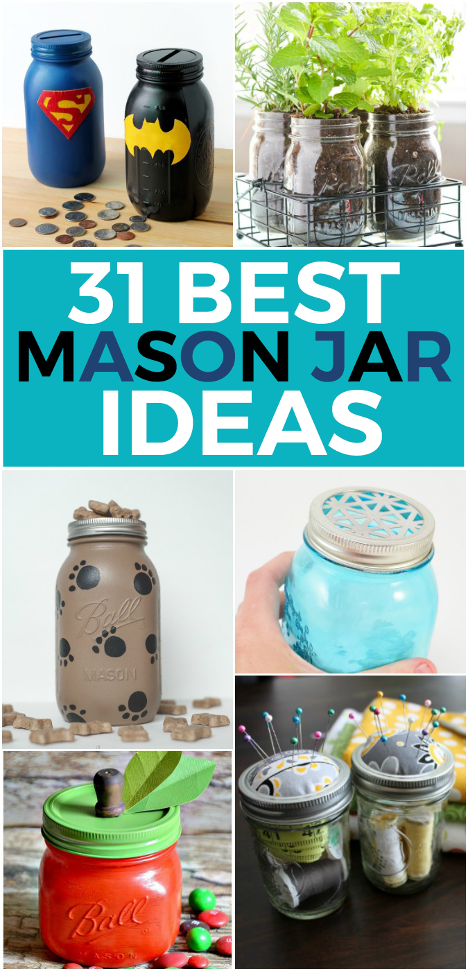 How To Decorate Mason Jars Extraordinary 31 Best Diy Mason Jar Ideas  Kid Activities Mason Jar Crafts And Craft 2018