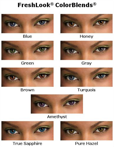 different options vistakon colored contacts soft contact