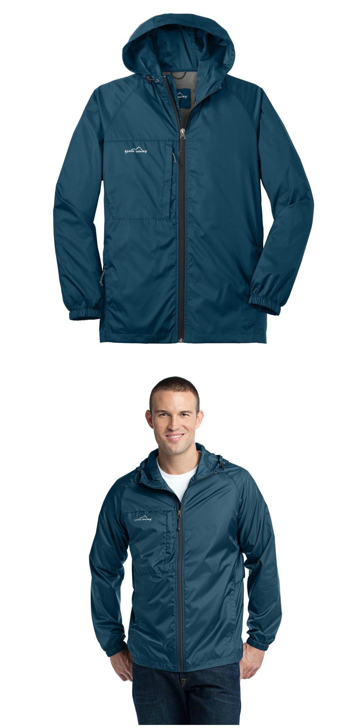 Eddie Bauer EB500 Packable Wind Jacket Adriatic Blue
