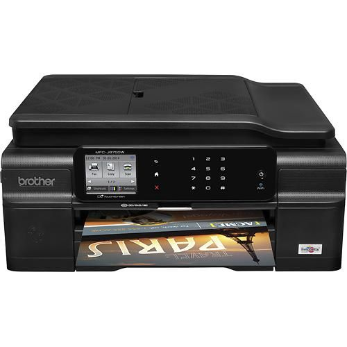 need one of these for the house  Brother - Network-Ready Wireless All-In-One Printer - Black - Larger Front