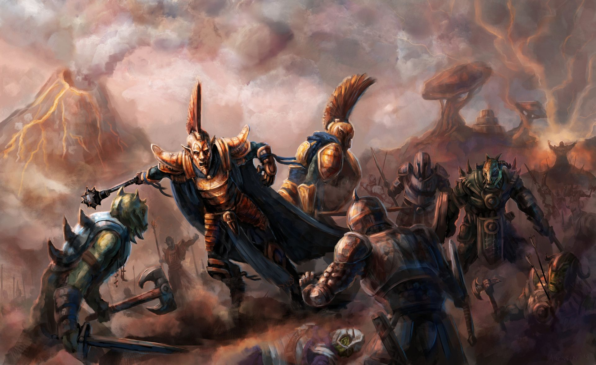 ArtStation - Ordinator Battle (Beyond Skyrim: Morrowind