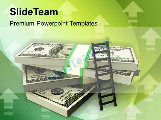 stack of money with a ladder powerpoint templates ppt themes and - money background for powerpoint