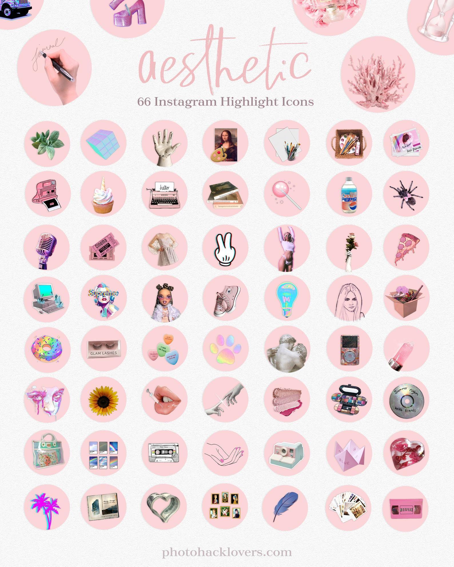 Instagram Highlights Aesthetic Instagram Icons Etsy In 2020 Instagram Aesthetic Instagram Highlight Icons Instagram Icons