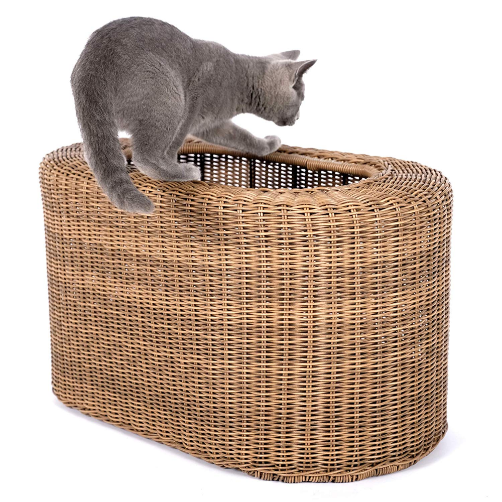 Cat House Lightweight And Stackable Save Space For Multiple Cats In Small Apartment Rattan Wicker Cat House For Indoor Cats Ki Cat Bed Indoor Cat Cat Condo