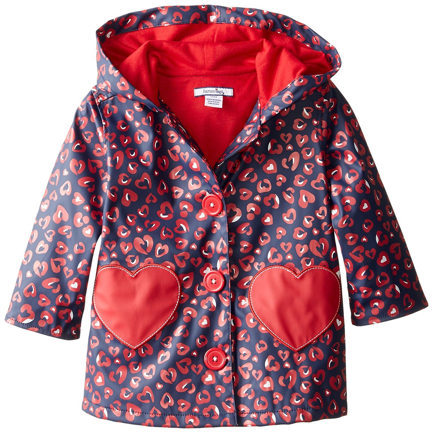 58f629a35 Hartstrings Baby-Girls Infant Heart Animal Print Hooded and Lined ...