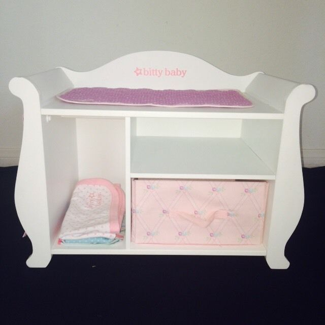 American Girl Bitty Baby Changing Table Storage Ebay Baby