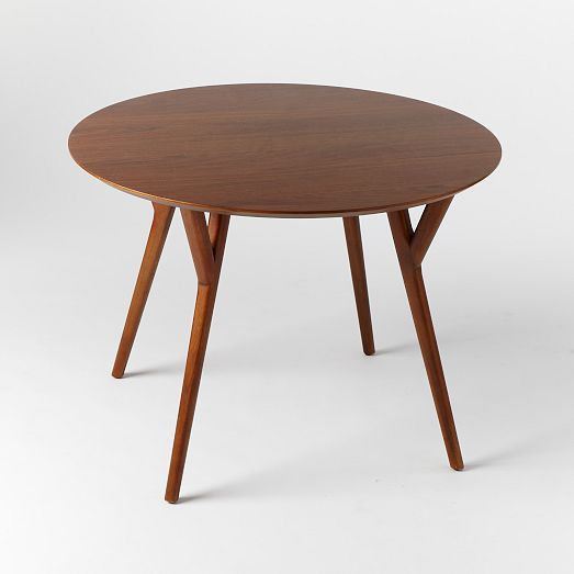 Parker Mid Century Round Dining Table West Elm 499 44